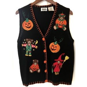 Halloween Sweater Vest Size Medium